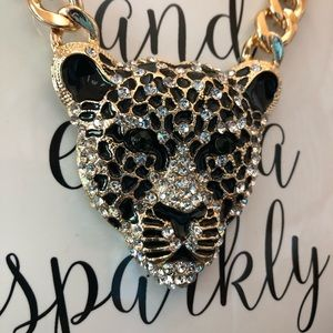 Chunky jacquard necklace